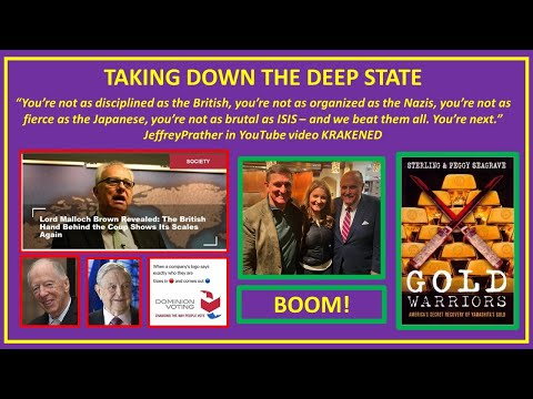 Lord Malloch Brown George Soros Dominion Mike Flynn Rudy Giuliani Gold Treasure DOUBLE BOOM!