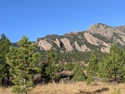 A view of the Flatirons from Eldorado Canyon