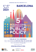 CALL FOR PAPERS 5th International Conference on Public Policy.