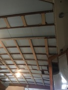 Aft deck headliner refinish and insulation.