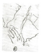 This is a drawing I made from a Finnish folk therapist's hand.