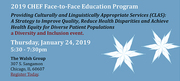 2019 CHEF Face-to-Face Education Program