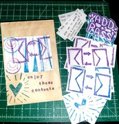 Envelopes, Heart, A&P, Abstract stamps