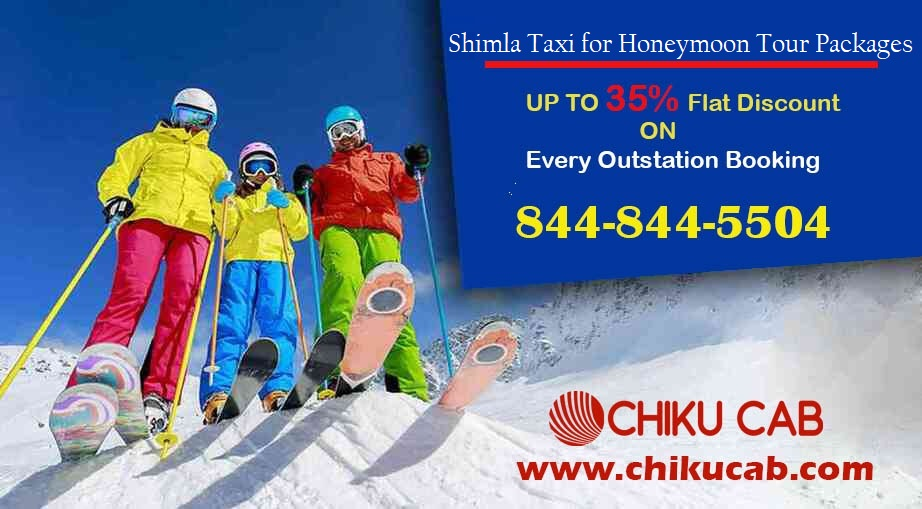 Book Best Taxi Service in Shimla for Honeymoon Tour Packages