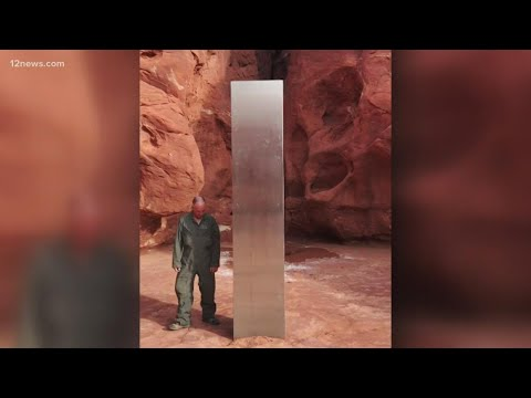 Mysterious metal monolith found in Utah desert