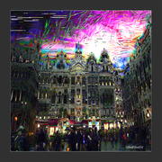 GP Brussels at night 04 signed, canvas