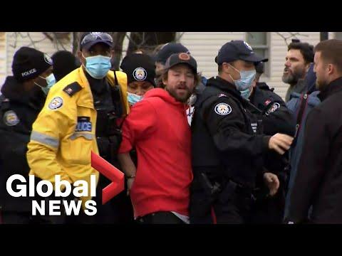 Coronavirus: Toronto BBQ owner who defied lockdown order taken into custody
