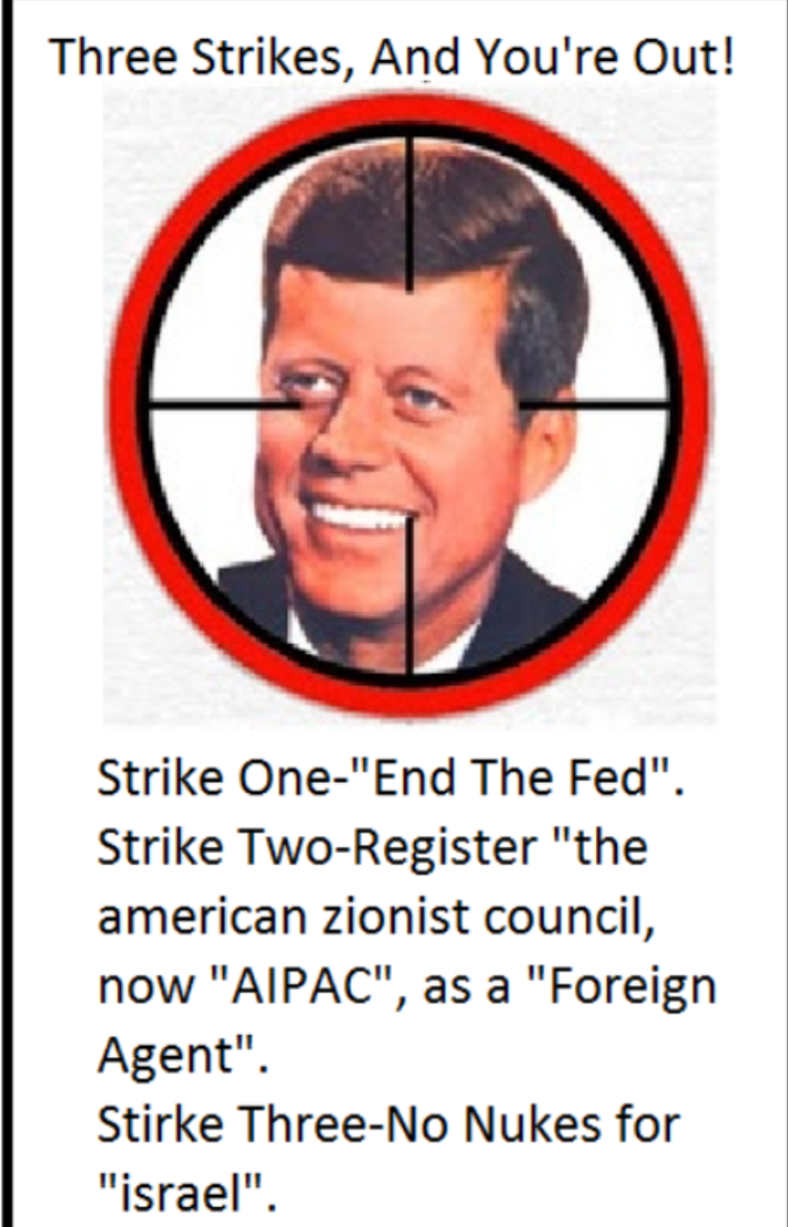 Three Strikes and Your Out - JFK Killed by Jews