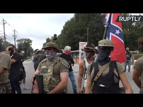Right-wing groups rally at Stone Mountain Park
