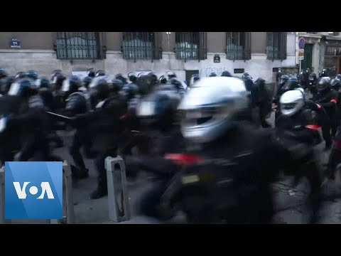 Police Charge at Protesters During Anti-Police Demonstration in France