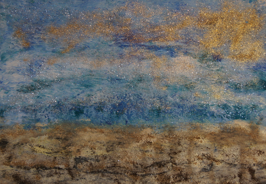 Lumière dorée, 80 x 60, horizontal, Acryl auf Leinwand, 2020