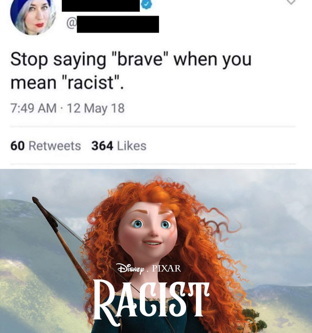 not brave - racist!