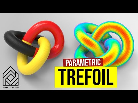 How to make a Trefoil Knot (Parametric Surface)
