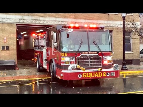 North Hudson Fire, NJ Squad 2, Spare Ladder 6, and Battalion 1 Responding