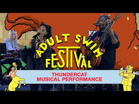 """Thundercat (feat. Ariana Grande, JD Beck, and DOMi) """"Them Changes""""   Adult Swim Festival"""
