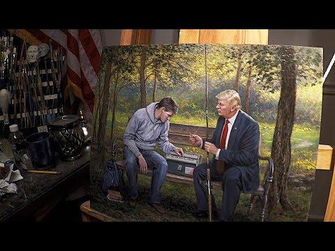 Teach a Man to Fish - Trump Painting