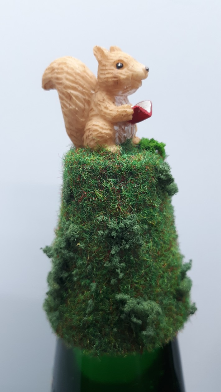 Woodland Forest Squirrel lamp