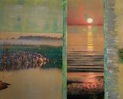 Serie Displacements, 2020, mit acryl übermaltes Foto, 50x60 cm