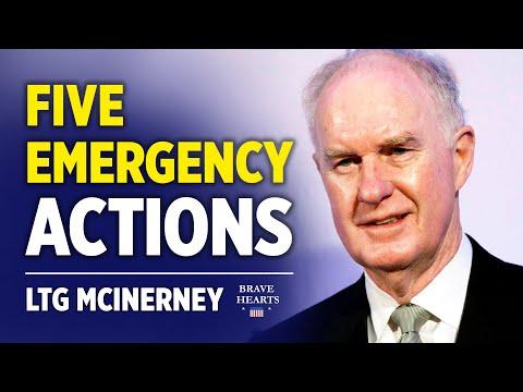 LTG McInerney:  AG Barr & 5 Emergency Actions to Terminate Treason | BraveHearts Sean Lin