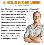 4 hours a week will allow you to be Successful
