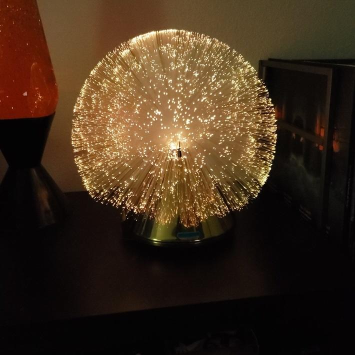 Recycled fiber optic lamp