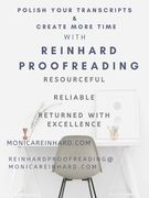 Reinhard Proofreading