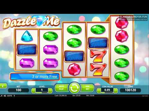 Dazzle Me Slot by NetEnt - Demo Play on PlayFortune for Fun