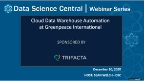 DSC Webinar Series: Cloud Data Warehouse Automation at Greenpeace International