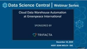 DSC Webinar Series: Cloud Data Warehouse Automation at Greenpeace International