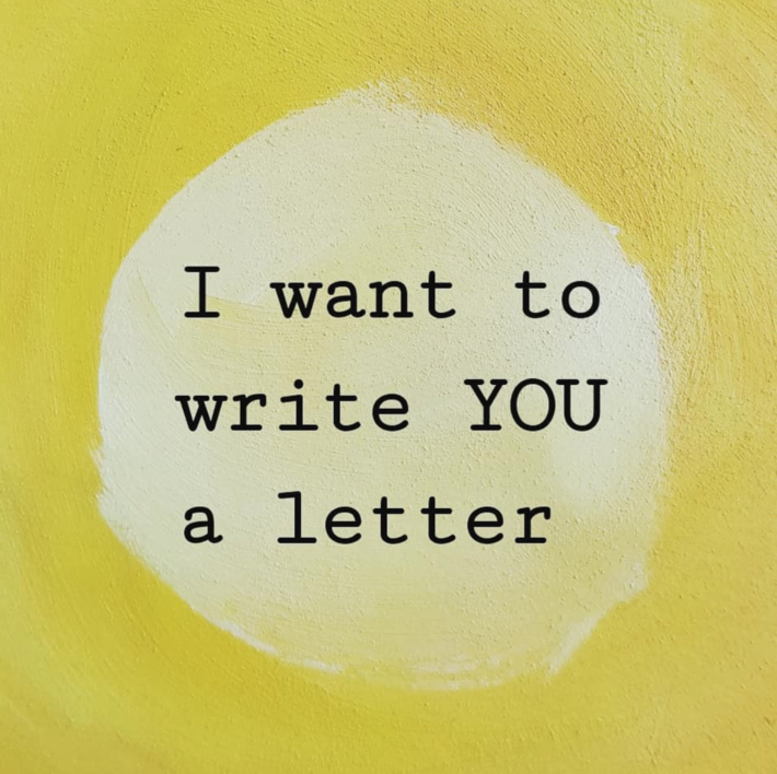 i want to write you a letter