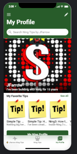 Ning Tips and Tricks app by Jfarrow