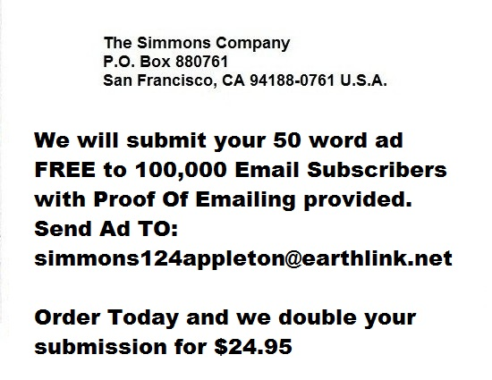 Submit Your Email Ad to 100,000!