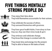 5 mental strong things people do