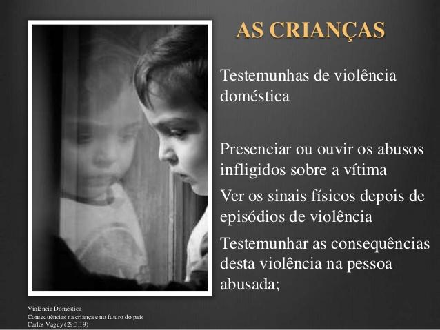 AS CRIANÇAS TESTEMUNHAS DE VIOLÊNCIAS