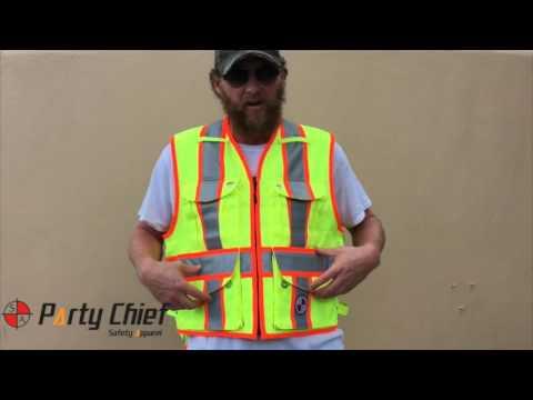 The Party Chief Heavy-Duty Survey Vest - Class 2