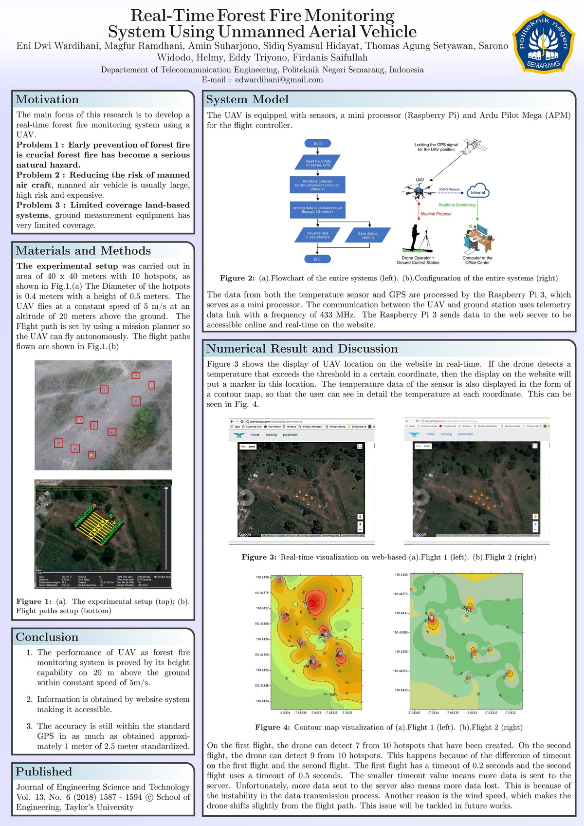 REAL-TIME FOREST FIRE MONITORING SYSTEM USING UNMANNED AERIAL VEHICLE