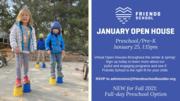 Preschool January OPEN HOUSE
