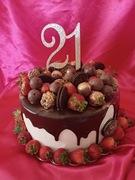 21st Birthday Drip Cake