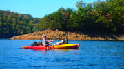 Kayaking on Fontana Lake