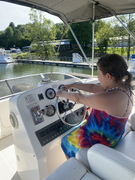 Showing off her navigation skills