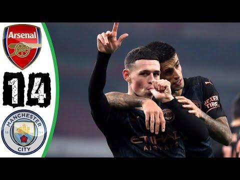 ดูจอล่าง / ฟูลแมตช์+ไฮไลท์ Arsenal 1-4 Manchester city