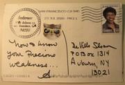 Mail art by Annette Kesterson (San Francisco, California, USA)