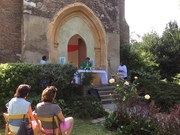 Christmas Day Eucharist Outside at St Mary's Tower