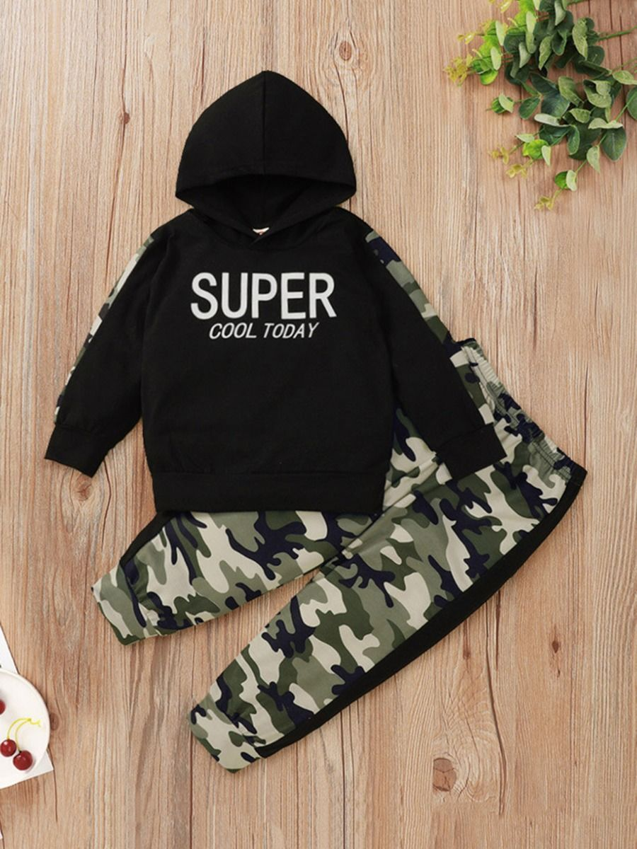 kiskissing Wholesale Two-piece Kid Boy Super Cool Today Camouflage