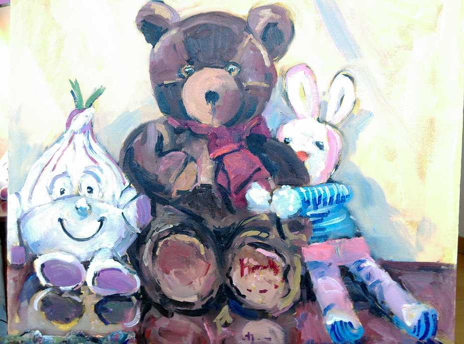Teddy and buddies.
