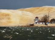 WIndy day at Silver Lake dunes, Michigan
