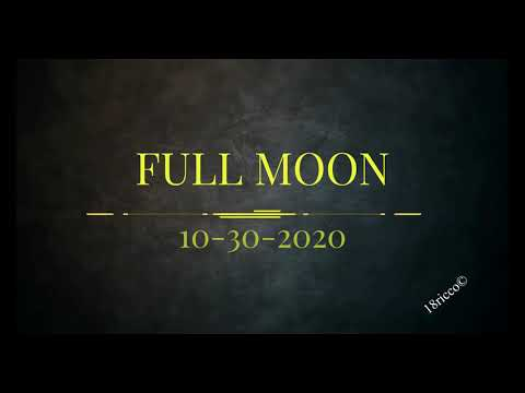 Full Moon 10 30 2020