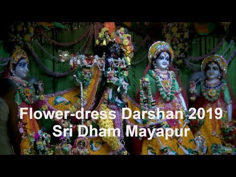 Flower Dress 2019 - Stunning Darshan Arati of Sri Sri Radha Madhava