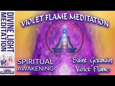 VIOLET FLAME MEDITATION for SPIRITUAL AWAKENING with SAINT GERMAIN - Violet Flame Meditation