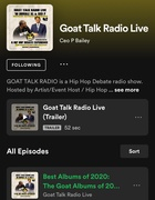 Did you miss the @Goattalkradiolive Show??? Best Albums of 2020 According to @iamxxl and @rockthemicnews! Replay the first Ep on @Spodify! #SubscribeToday